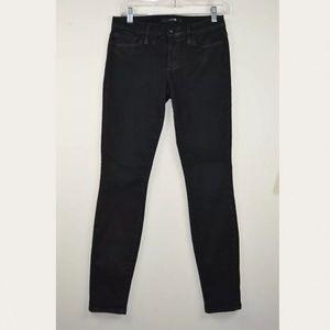 Joe's The Skinny 27 Black Coated Jeans W 28 x I 30